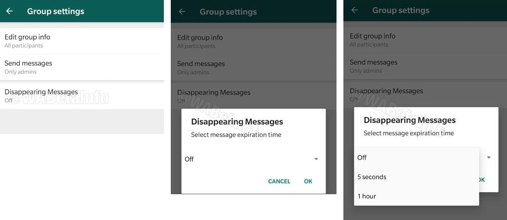 Whatsapp ''Disappearing messages''
