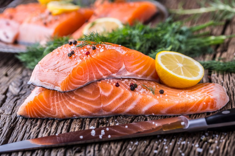 The salmon serving size for 2 people |  Best Salmon nutrition
